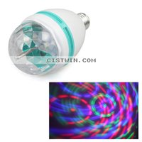 Atacado-E27 Full Color 3W RGB LED Projector de cristal Luz de Palco Magic Ball Dace Party DJ Disco Efeito Light Bulb Lamp