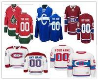 camisolas venda por atacado-Costurado Costume Montreal Canadiens mulheres das mulheres dos homens Personalizado Fora Branco Inverno Clássico terceiro C Azul Casa Vermelho CH CD hóquei Jerseys S-4XL