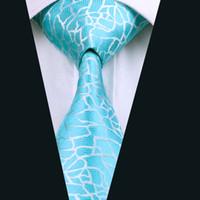 Wholesale Top Mens Business Suits - Top Selling Blue Silk Ties Jacquard Woven Mens Necktie 8.5cm Width Business Work Suit Tie D-1038