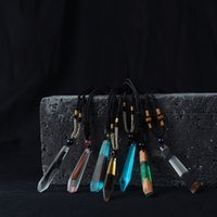 Wholesale Borealis Necklace - Originality Hand grinding Resin and wood Mix and match The aurora borealis Pendant necklace 01-ZRJ