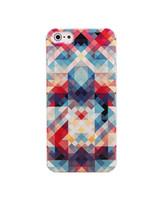 Wholesale Plaid Iphone Case - Wholesale Dizzy Colorful Plaid Drawing Hard Plastic Mobile Phone Case Cover For iPhone 4 4S 5 5S 5C 6 6 Plus