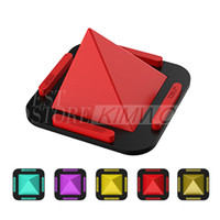 Wholesale Slip Mobile - Universal Car Holder Non-Slip Pad Pyramid Shape Silicone Mobile Phone Bracket Desk Stand for iPhone 8 X Tablets Stand