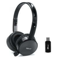 Wholesale Skype Wireless Headsets - free shipping 2.4G wireless Stereo computer PC headphone earphone headset with mic skype facebook MSN Wireless chat