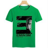 Wholesale L Idol - New Arrivals Men T Shirts Printing Eminem People Idol Short Sleeved 100% Cotton Rock Musi Male T-Shirt For Men