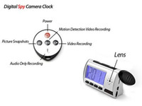 Wholesale Cam Sounds - Digital Alarm Clock Spy Camera with Motion Detection+Remote Control Clock hidden pinhole DVR Digital Sound Video recorder home security cam