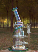 Wholesale Bake Glass - Wake & Bake New Bongs Glass oil rigs incycler water pipes with matrix stereo perc