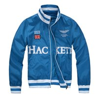 outdoor jackets uk - Fall New autumn Men embroidery blue jacket windbreak coat casual outdoor uk flag polos jackets jaquetas