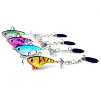 Wholesale Sea Fishing Spinners - Fishing accessories new 12g lead fish VIB spin sequins sea fishing lure bait sequins lead fish-shaped bait