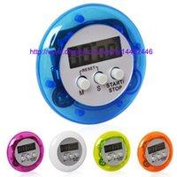 zamanlayıcı için lcd toptan satış-50 adet yenilik dijital mutfak sayacı Mutfak yardımcısı Mini Dijital LCD Mutfak Aşağı Klip Timer Alarm Ücretsiz kargo Sayısı