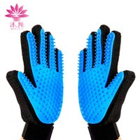 Wholesale Massage Bath Glove - Pet Cleaning Brush Glove Dog Comb Silicone Bath Mitt Pet Dog Massage Hair Removal Grooming Glove Pet Supplies