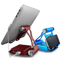 ingrosso caricabatterie-10400mAh Caricabatteria di riserva portatile caricabatteria portatile con supporto pieghevole per tablet pc e per telefono cellulare iPad