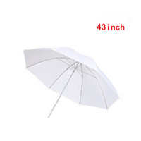 Wholesale White Translucent Umbrellas - Holesale New 43 inch Photo Studio Photography Video Continuous Lamp Light White Soft translucent Umbrella free shipping