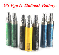 Wholesale Ego Coloful Battery - Lumia Battery 2200mAh GS eGo II 2200mah Battery Ungrade Edition 3D Coloful eGo Huge Capacity Battery VS EVOD Twist Battery