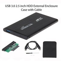 Wholesale Usb Hdd Drivers - Aluminum alloy 2.5 Inch USB 3.0 SATA External Hard Driver Mobile Disk HDD Enclosure Disk Case With Retail Package