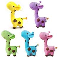 Wholesale Wholesale Giraffe Teddy - 1 Piece Plush Giraffe Soft Toy Animal Dear Doll Baby Kid Child Birthday Happy Gift 5 Colors