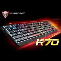 Wholesale Illuminated Keyboard Laptop - MOTOSPEED 104 Gaming Esport Keyboard USB Wired LED Colorful Backlit Backlight Illuminated PC Laptop Notebook Desktop C2403