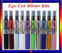 Wholesale mini ego ce4 kit electronic resale online - Colorfull EGo CE4 Blister kit electronic cigarette starter kits with ce4 atomizer mAh ego t battery VS EVOD mini protank kit