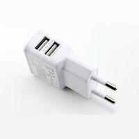 fuente de alimentación del teléfono portátil al por mayor-5V 2A Portátil de doble puerto USB Travel Home Wall Charger EU Plug Adaptador de fuente de alimentación USB para teléfono móvil para Samsung Iphone