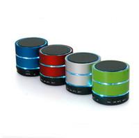 Wholesale Sound Box Price - Bluetooth Speaker LED Speakers S09 Enhanced LED Light Ring Super Bass Metal Mini Portable Hi-Fi Handfree Boxed Factory Price