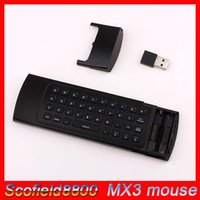 50pieces dhl MX3 MXIII fly mouse 2.4G 3D mousewireless senza fili con sensori di inerzia a 6 assi Motion Sensing Games Ingresso voce Mic