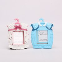 Wholesale Baby Shower Frames - 9*7 cm Cute Baby Photo Frame Wedding Favor Baby Shower Theme Resin Picture Frames Gifts