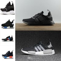 Wholesale Casual Tennis - 2017 New Nmd Xr1 R1 Monochrome Mesh Triple White Black Men Shoe Women Running Shoes Sneakers NMD Green Red Runner Primeknit Casual Shoes