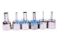Wholesale Nozzles Bga - 6Pcs Lot BGA Round Circle Nozzles 850 Hot Air Rework Reflow Soldering Station#57375