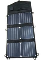 cargador solar de teléfono celular al por mayor-SUNPOWER Solar Cell 20Watt Cargador solar plegable + 10A Controlador solar para 12V Coche / Barco / Yate / Jetski Batería + Teléfono / Laptop Cargador