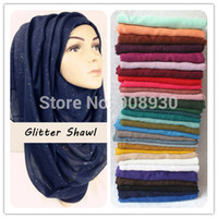 Wholesale Shimmer Sparkle - Plain Glitter Sparkle Hijab Maxi Shimmer Shawl Women Scarves