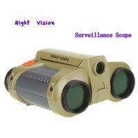 Wholesale Wholesale Night Vision Binoculars - 4 x 30mm Night Scope Binoculars Telescopes with Pop-up Light Drop Shipping Free Shipping DHL H1056
