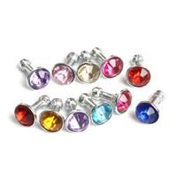 plug diamante fone de ouvido venda por atacado-Universal 3.5mm Diamante Poeira Plug Cap Bling Brilhante Fone de Ouvido Anti Poeira Plug 3000 Pcs