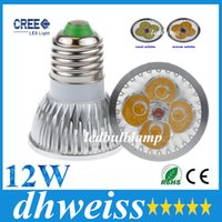 20pcs haute puissance GU10 / MR16 / E27 / E14 / G5.3 12W CREE 4x3W Dimmable Led Light Lamp Spotlight ampoule led pas cher !! + CE ROHS