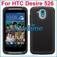 High Impact Hybrid Armor Case Resistant Proteção Back Cover Dual Layer Defender Rugged Hard Case para HTC Desire 526
