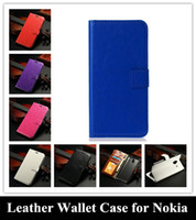 Wholesale cases for lumia phone for sale - Retro Crazy Horse PU Leather Wallet Flip Cover Credit Holder Stand Phone Case for Nokia Lumia XL