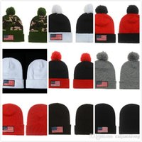 Wholesale Tie Dye Fashion Usa - Free fast shipping Hip hop USA american national flag star Beanies caps wool winter warm knitted hats Skullies fashion for man women