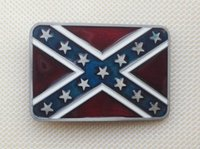 Wholesale Red Star Belt Buckle - Red And Star Flag belt buckle with pewter finish SW-BY104 brand new condition with continous stock