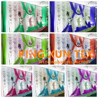 Wholesale new curtains designs - 10FT*20FT Factory New Design Wedding Backdrop Curtain Include The Color Swag With Best Quanlity Free Shipping