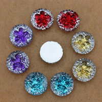 200PCS 12mm Mix colori resina pietre strass rotondo Flatback Beads fai da te ZZ256