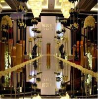 Wholesale Gold Napkin Rings Sale - Wedding Centerpieces Mirror Carpet Aisle Runner Silver 1.2M 1M Design T Station Decoration Wedding Favors Carpets 2015 Hot Sale