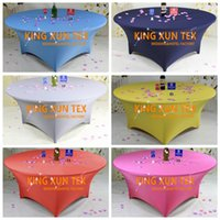 Wholesale Spandex Table Covering - High Thick Round Lycra Spandex Table Cover \ Cheap Wedding Table Cloth For Event And Party Decoration