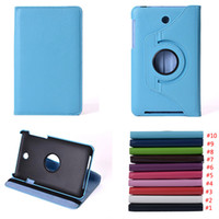 Wholesale Me173x Case - For Asus MeMO Pad HD 7 ME173X Rotating Stand Flip PU Leather Smart Tablet Cover Case With Free Shipping