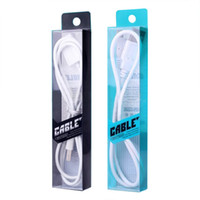 usb kablo paketleme çantaları toptan satış-Toptan 100 adet / grup Blister Temizle PVC Perakende Ambalaj Çanta / Paketleri Kutusu Için 1 metre Şarj Kablosu USB kablosu, 4 renk