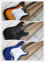 Wholesale Black Strat - factory price Sunburst Black Blue custom shop stratocaster rosewood fingerboard chinese st electric guitar strat guitar free shipping