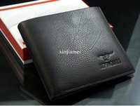 Freies shipping20pcs / lot 2012 neue stilvolle Mannmappe + echte Kuh Leather + PocketsClutch Cente Bifold Geldbeutel, dropshipping MSW14