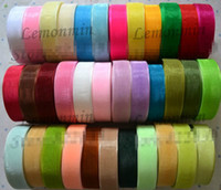 Wholesale Wholesale Webbing Rolls - SALE! 2cm width Wholesale Lace transparent yarn Sheer organza ribbon webbing Christmas decoration wedding decoration, 250Yard Roll color