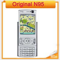 cep telefonu cep telefonu wifi toptan satış-Orijinal N95 Nokia Cep telefonu 5MP 3G WIFI GPS Yenilenmiş Cep Telefonu