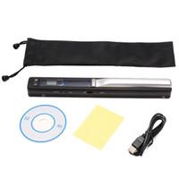 Wholesale Lcd 24 - Wholesale- Portable Digital Scanner 900DPI Handy Scanister Wireless A4 Mini Handheld Scanner Pen LCD Display JPEG Format Document Scanner