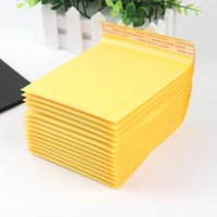 Wholesale Mail Supplies - Wholesale- 5 PCS lot 110*130mm Kraft Paper Bubble Envelopes Bags Mailers Padded Shipping Envelope With Bubble Mailing Bag Business Supplies
