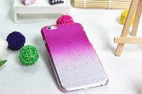Barato Pingos De Chuva Do Caso Duro Do Iphone-Crystal Gradient 3D RainDrop Waterdrop Hard Case para iPhone 5 5S SE 6 6S 7 8 Plus