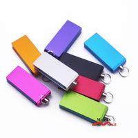 Wholesale Engraved Memory Sticks - 4GB 100 PCS Metal Mini USB Drive Storage Memory Flash Thumb Stick Pendrive Suit for Engraved Logo High Level Quality Mixture Colors